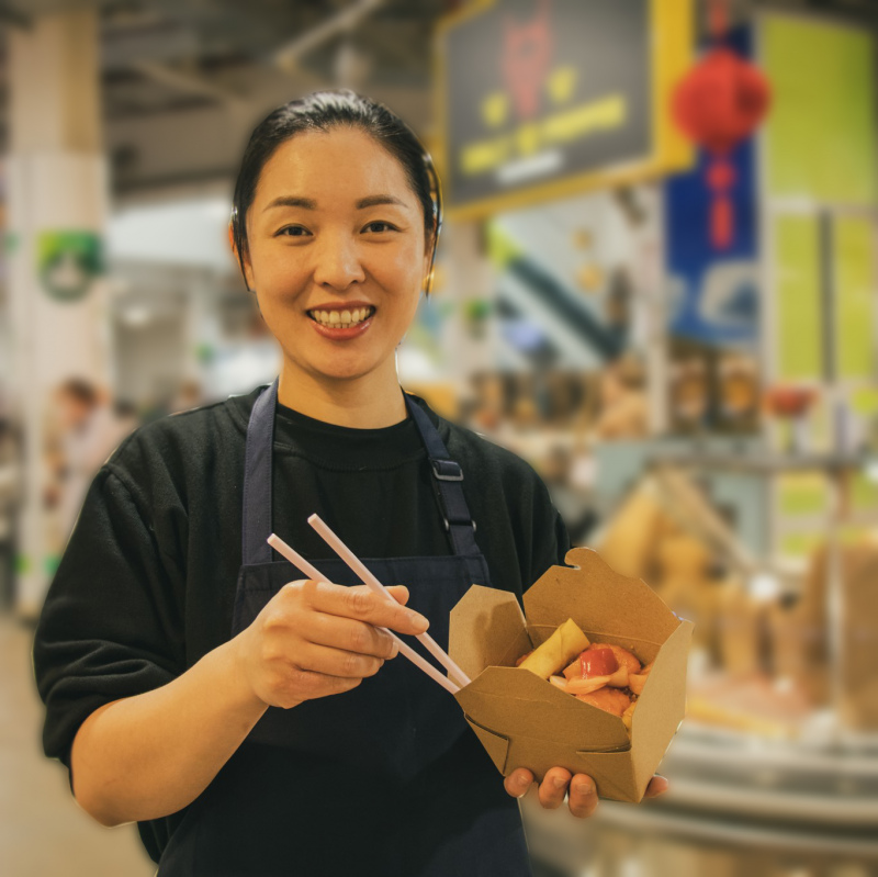 Mrs Wing Woo from the new Chinese Stall