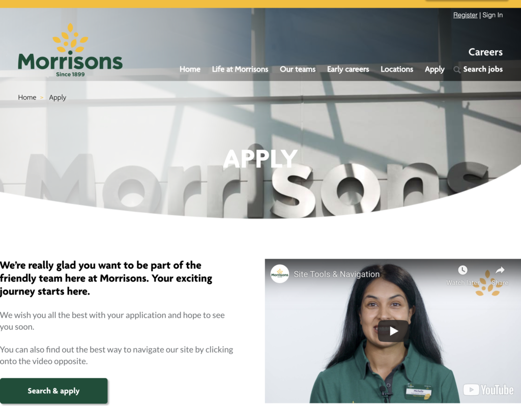 Morrisons is recuiting