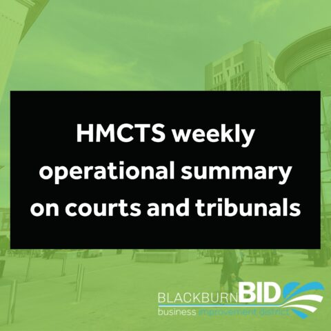 HMCTS weekly operational summary on courts and tribunals during the coronavirus (COVID-19) outbreak.