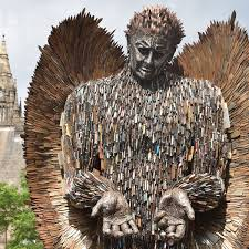 The Knife Angel - made from 100,000 bladed weapons