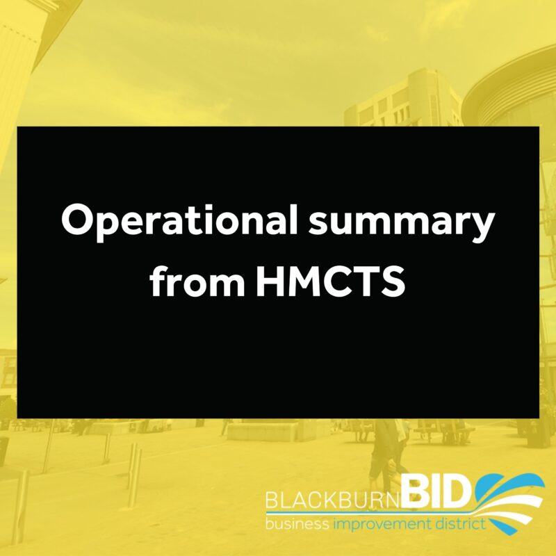 HMCTS operational summary for week commencing Monday 15 March 2021