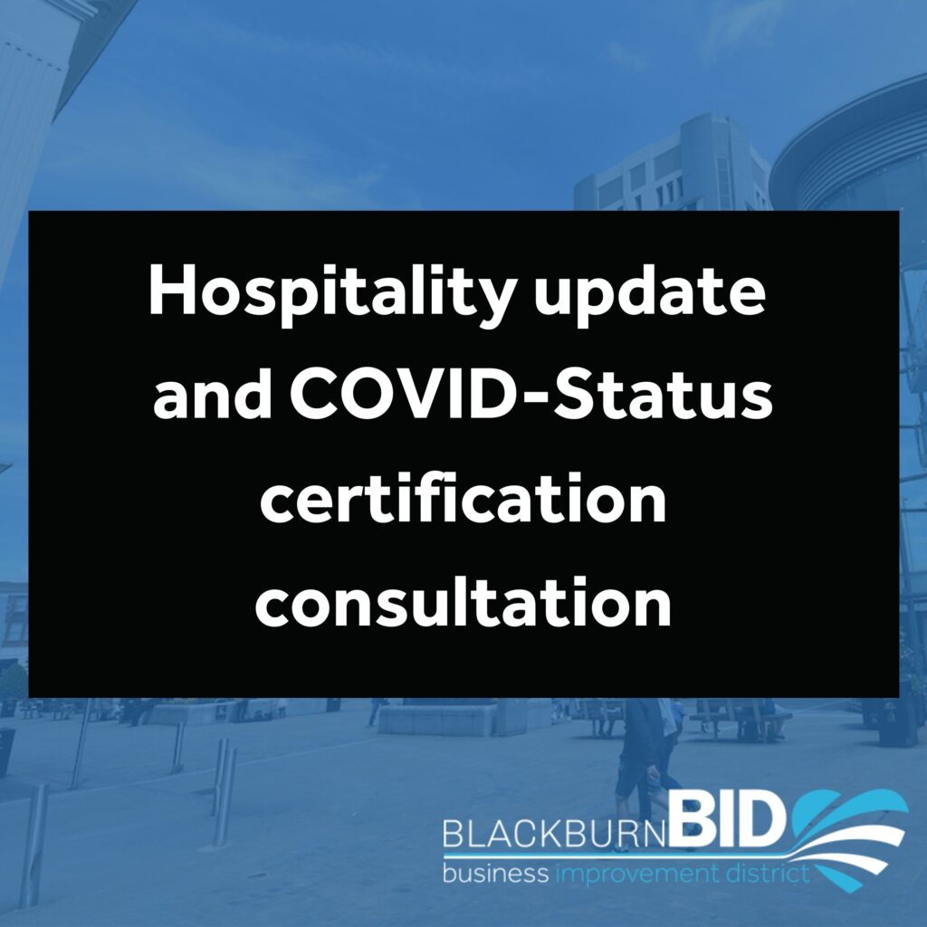 Hospitality Update and COVID-Status certification consultation updates