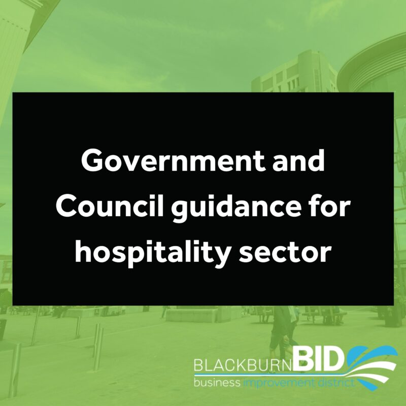 Government and Council advice for Hospitality sector