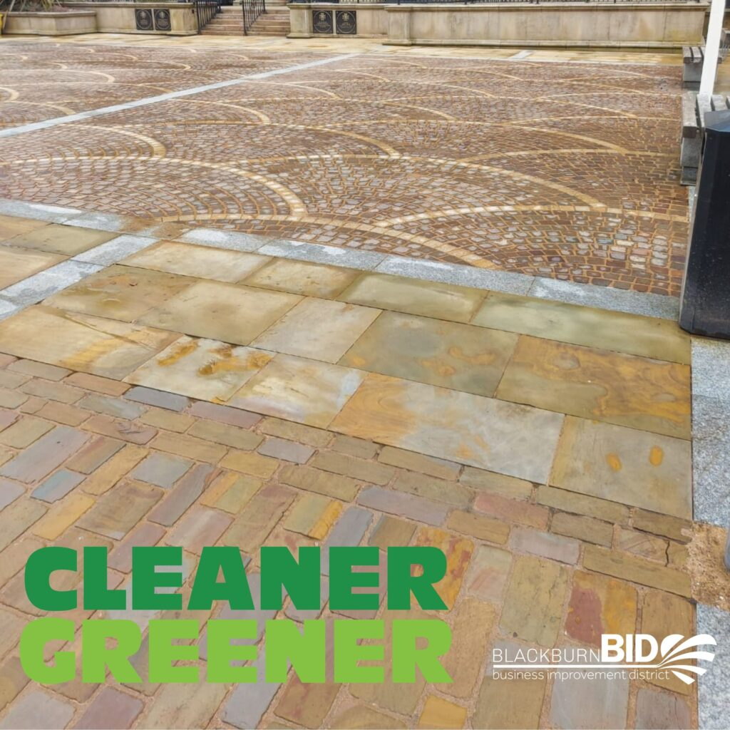 King William Street is being given a spring clean ahead of the reopening of Blackburn town centre. The intricate cobbles, paving and street furniture in one of the main shopping areas is being jet washed as part of the 'cleaner greener' priority for Blackburn BID. The street is being cleaned from outside Blackburn Town Hall to the junction with Lord St West and entrance to The Mall shopping centre.