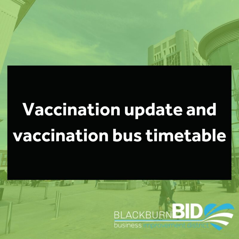 Vaccination update and vaccination bus timetable