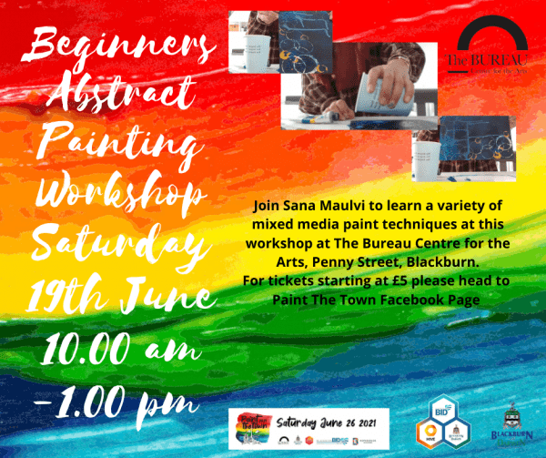Don't miss your chance to attend A Colourful Window' Beginners Abstract Painting workshop with Sana Maulvi.