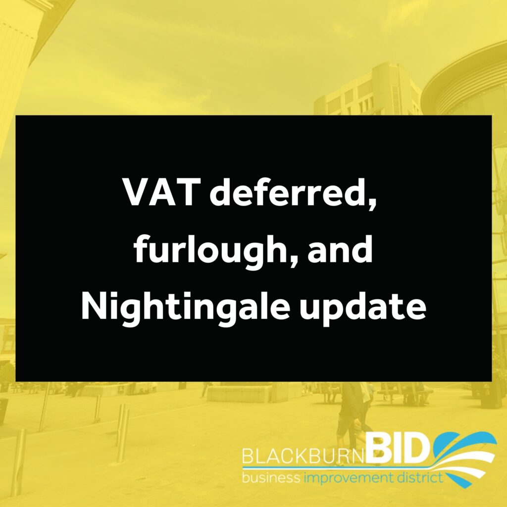 Find out the latest information and guidance around VAT deferred, furlough, and Nightingale Courts here.