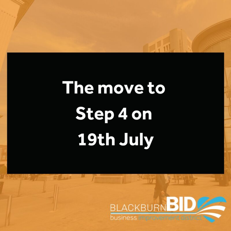 The Government has updated their guidance on the Coronavirus restrictions in place, after confirming that we will move to Step 4 of the roadmap on 19 July. While cases are high and rising, everybody needs to continue to act carefully and remain cautious. This is why we are keeping in place key protections at step 4 from 19 July.