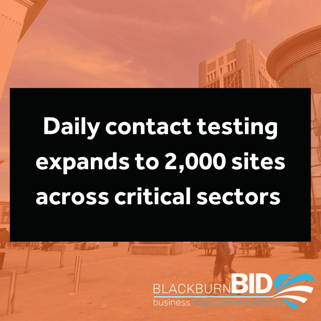 Daily contact testing expands to 2,000 sites across critical sectors