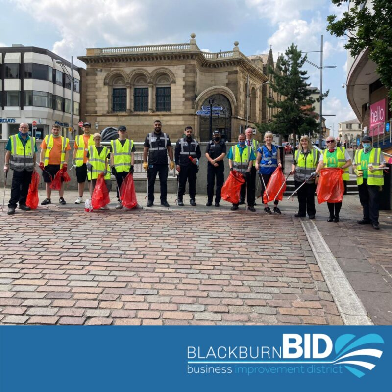 The community litter pick in Blackburn town centre on Wednesday was a huge success. Over 40 bags of rubbish were removed during the three hour litter pick.